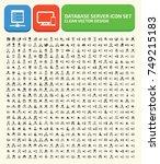 database server icon set vector | Shutterstock .eps vector #749215183