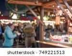 blurred image bokeh of people...   Shutterstock . vector #749221513