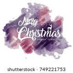 merry christmas and happy new... | Shutterstock .eps vector #749221753