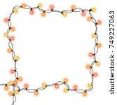 christmas tree string garland... | Shutterstock .eps vector #749227063
