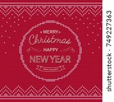 merry christmas and happy new... | Shutterstock .eps vector #749227363