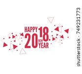 happy new year 2018 theme.... | Shutterstock .eps vector #749231773