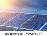 solar panels  alternative... | Shutterstock . vector #749245777