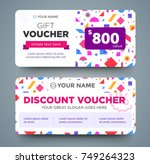 discount voucher template with... | Shutterstock .eps vector #749264323