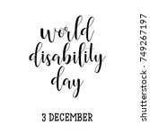 world disability day. 3... | Shutterstock .eps vector #749267197