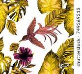 fashion print. watercolor... | Shutterstock . vector #749269213