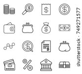 thin line icon set   coin stack ... | Shutterstock .eps vector #749271577