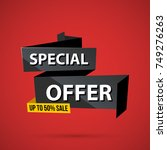 special offer banner template... | Shutterstock .eps vector #749276263