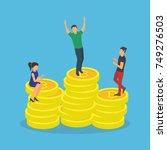 bitcoin concept vector... | Shutterstock .eps vector #749276503