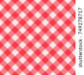 red gingham seamless pattern.... | Shutterstock .eps vector #749278717