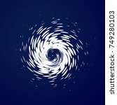 huge hurricane  tornado ... | Shutterstock .eps vector #749280103