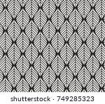 vector illustration of leaves... | Shutterstock .eps vector #749285323