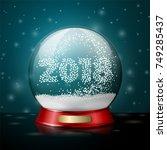 transparent realistic vector... | Shutterstock .eps vector #749285437