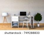 3d rendering of interior modern ... | Shutterstock . vector #749288833