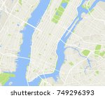 new york and manhattan urban... | Shutterstock .eps vector #749296393