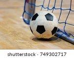 football futsal ball goal and... | Shutterstock . vector #749302717
