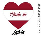 simple logos made in latvia ... | Shutterstock .eps vector #749305837