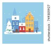 vector cartoon illustration of... | Shutterstock .eps vector #749305927