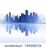 cityscape  3d illustration | Shutterstock . vector #749308723
