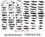 grungy brush strokes set over... | Shutterstock .eps vector #749315743