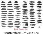 grungy brush strokes set over...   Shutterstock .eps vector #749315773