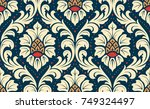 luxury old fashioned damask... | Shutterstock .eps vector #749324497
