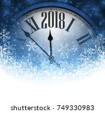 blue 2018 new year background... | Shutterstock .eps vector #749330983