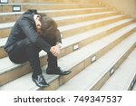 stress people compression in... | Shutterstock . vector #749347537