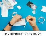 kaunas  lithuania   november 05 ... | Shutterstock . vector #749348707