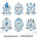 set of luxury heraldic vector...   Shutterstock .eps vector #749349547