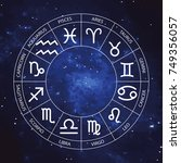vector graphics astrology set... | Shutterstock .eps vector #749356057
