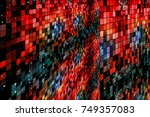 abstract red grid background | Shutterstock . vector #749357083