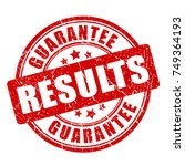 results guarantee vector stamp... | Shutterstock .eps vector #749364193