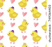 bright vector pattern with... | Shutterstock .eps vector #749364403