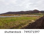 agriculture cultivated field... | Shutterstock . vector #749371597