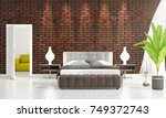 modern interior design of... | Shutterstock . vector #749372743