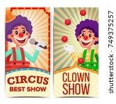 Circus Clown Vertical Banners...