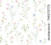 floral seamless pattern. flower ... | Shutterstock .eps vector #749375773