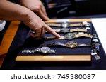 luxury watch in shop | Shutterstock . vector #749380087