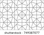 geometric seamless pattern with ...   Shutterstock .eps vector #749387077