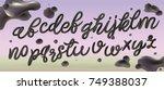 3d letters. metal liquid... | Shutterstock .eps vector #749388037