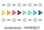 vector arrows triangles... | Shutterstock .eps vector #749393017
