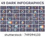 vector circle arrows... | Shutterstock .eps vector #749394133