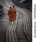 Buddha Monk Walk In The Mornin...