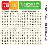 big icon set vector | Shutterstock .eps vector #749398813