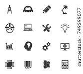 engineering vector icons for... | Shutterstock .eps vector #749399077