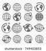 earth icons set | Shutterstock .eps vector #749403853