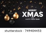 abstract merry christmas and... | Shutterstock .eps vector #749404453