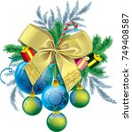 decor for christmas | Shutterstock .eps vector #749408587