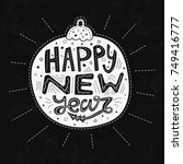 new year lettering design  card ... | Shutterstock .eps vector #749416777